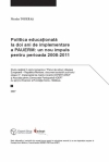 Education Policy Two Years after the EU-Moldova Actions Plan: a New Boost for the Period 2008-2011