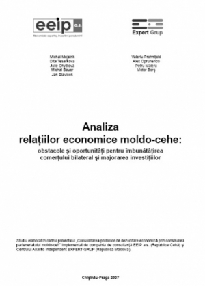 Analysis of the Moldovan-Czech Economic Relations: Hindrances and Opportunities for Increasing Bilateral Trade and Investment