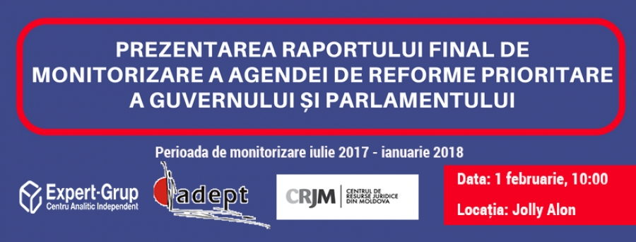 Presentation of the Final Monitoring Report on the Roadmap of Priority Reforms of the Government and Parliament