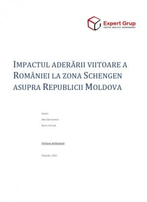 Impact of Future Accession of Romania to the Schenghen Area on Republic of Moldova.