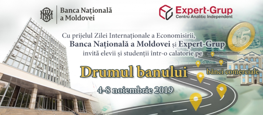 "Expert-Grup and National Bank of Moldova invite all those interested to a trip following the ""Road of the money"""