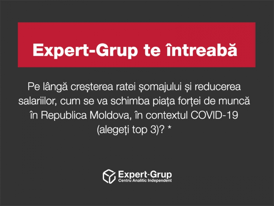 Expert-Grup is asking you: how will the labour market in the Republic of Moldova change in the context of COVID-19?