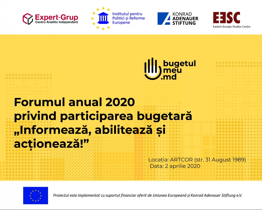 "POSTPONED. 2020 Annual Forum on Budgetary Participation ""Inform, Empower and Act!"""
