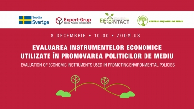 """Expert-Grup"" invites you to the online event: ""Evaluation of economic instruments used in promoting environmental policies"""
