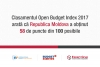 Open Budget Index 2017 – the position of Moldova on a global level
