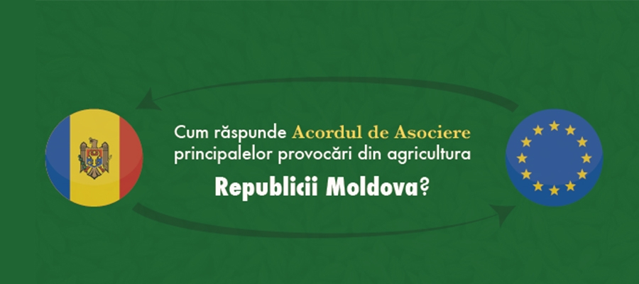 How does the Association Agreement with the EU tackle the challenges in Moldova's agriculture