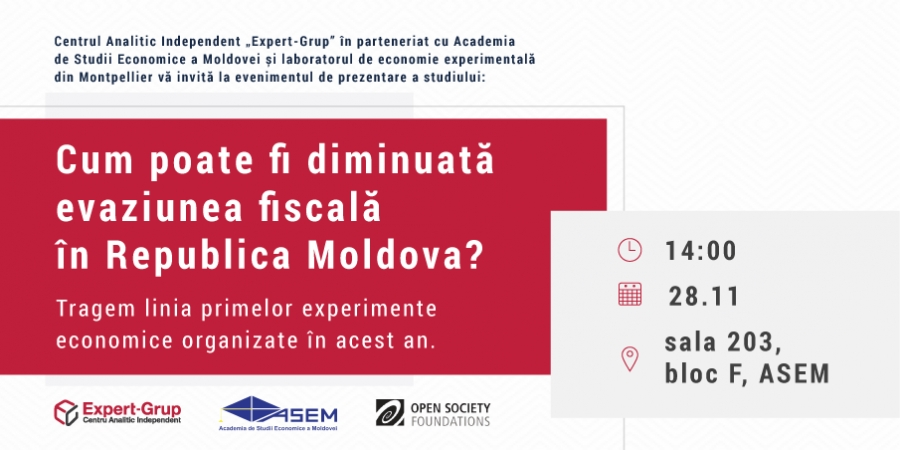 How can tax evasion be reduced in the Republic of Moldova? We draw the line of the first economic experiments organized this year
