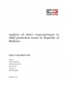 Analysis of State's Responsiveness to Child Protection Issues in Republic of Moldova