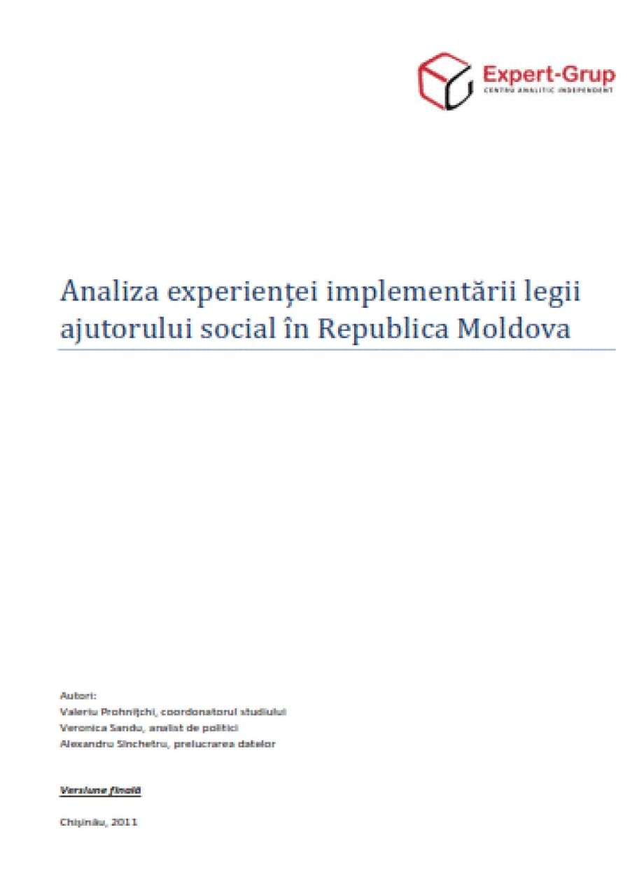 Analysis of the Experience in Implementation of the Social Aid Law