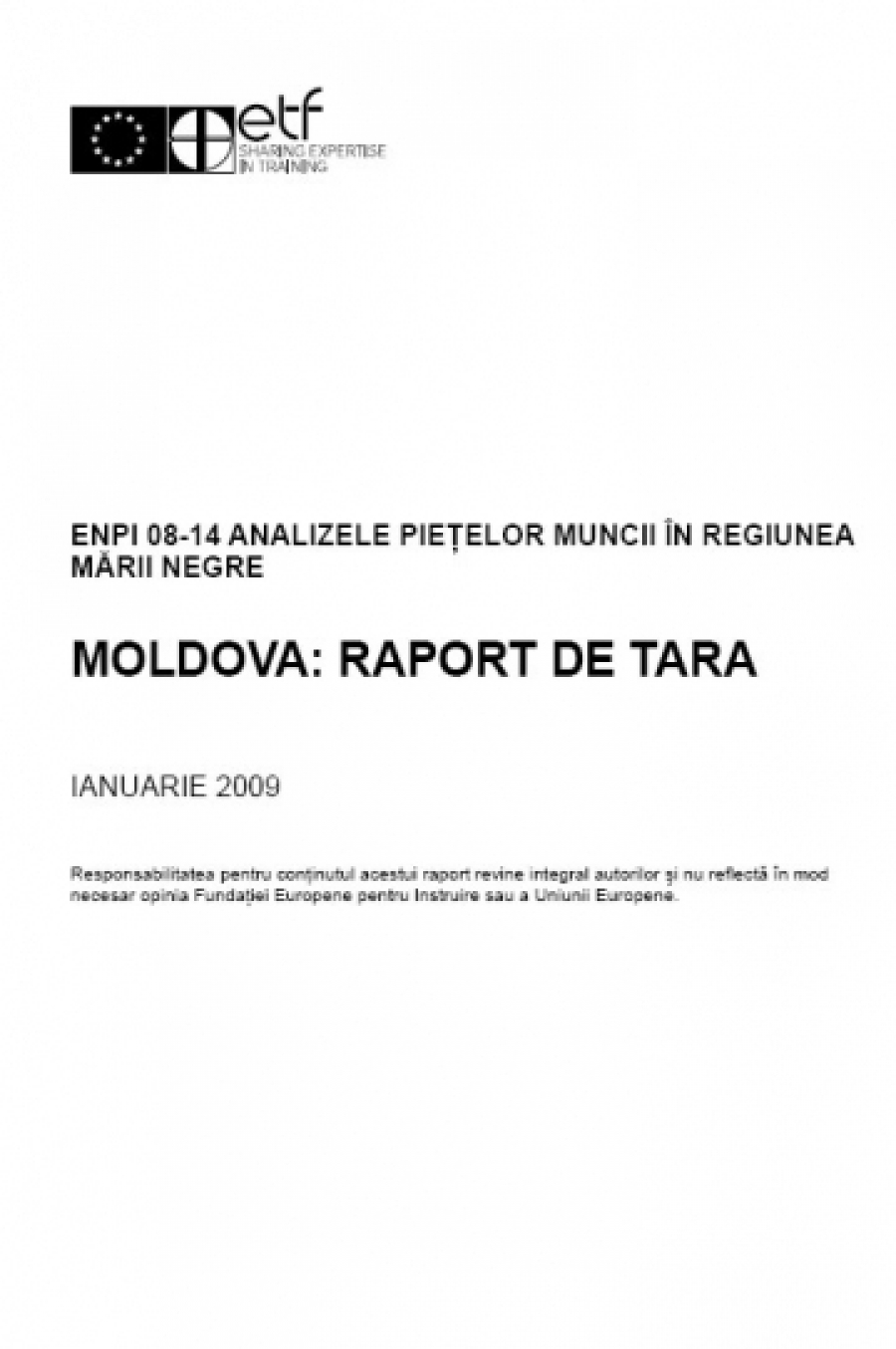 Moldova: Country Report – Labour market review
