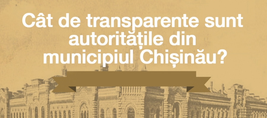 Transparency in the city of Chișinău